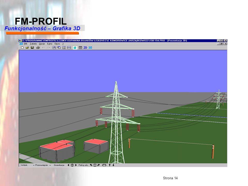 Strona 14 FM-PROFIL Funkcjonalność – Grafika 3D