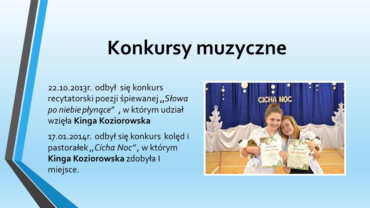 Konkursy muzyczne 22.10.2013r.
