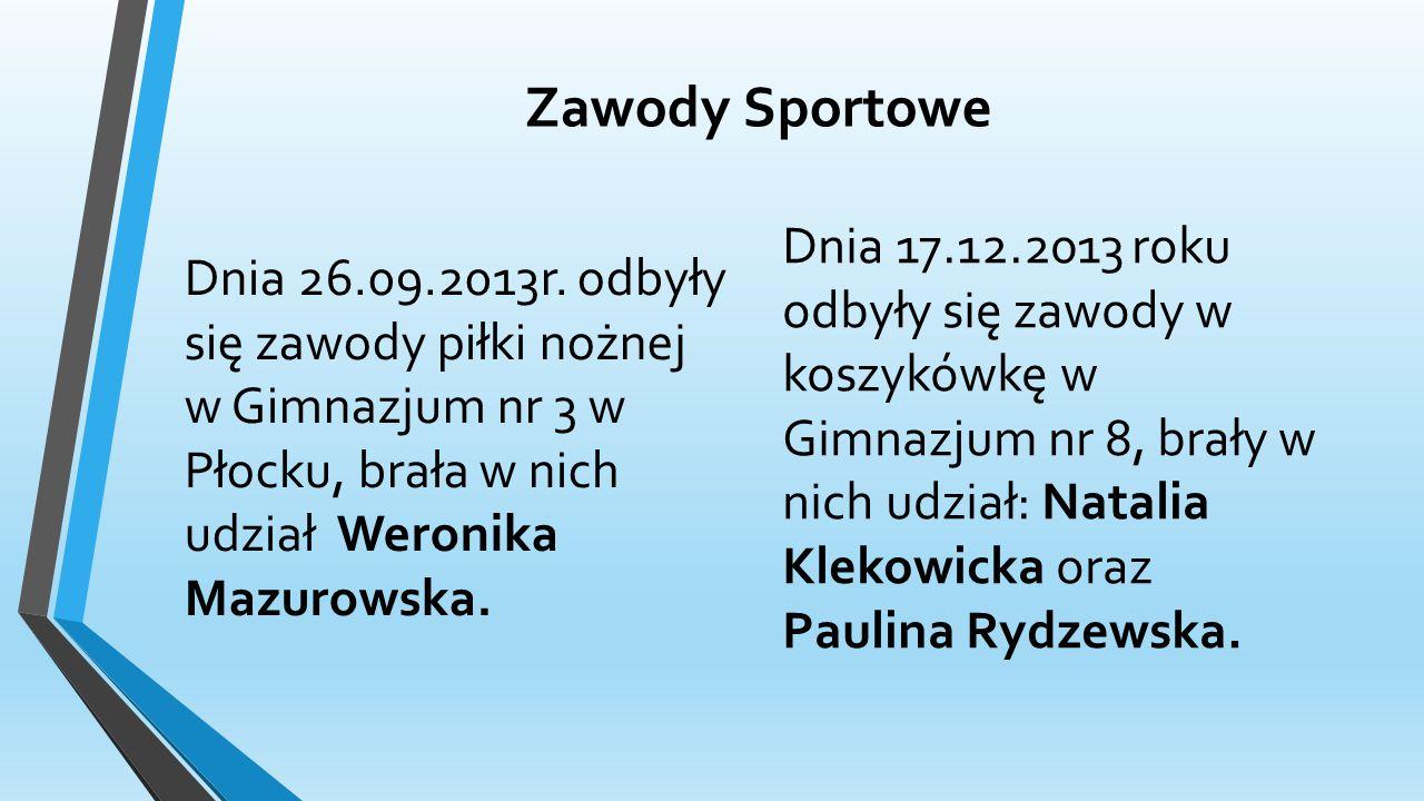 Zawody Sportowe Dnia 26.09.2013r.