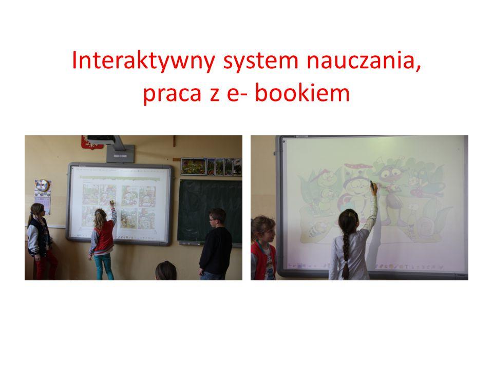 Interaktywny system nauczania, praca z e- bookiem