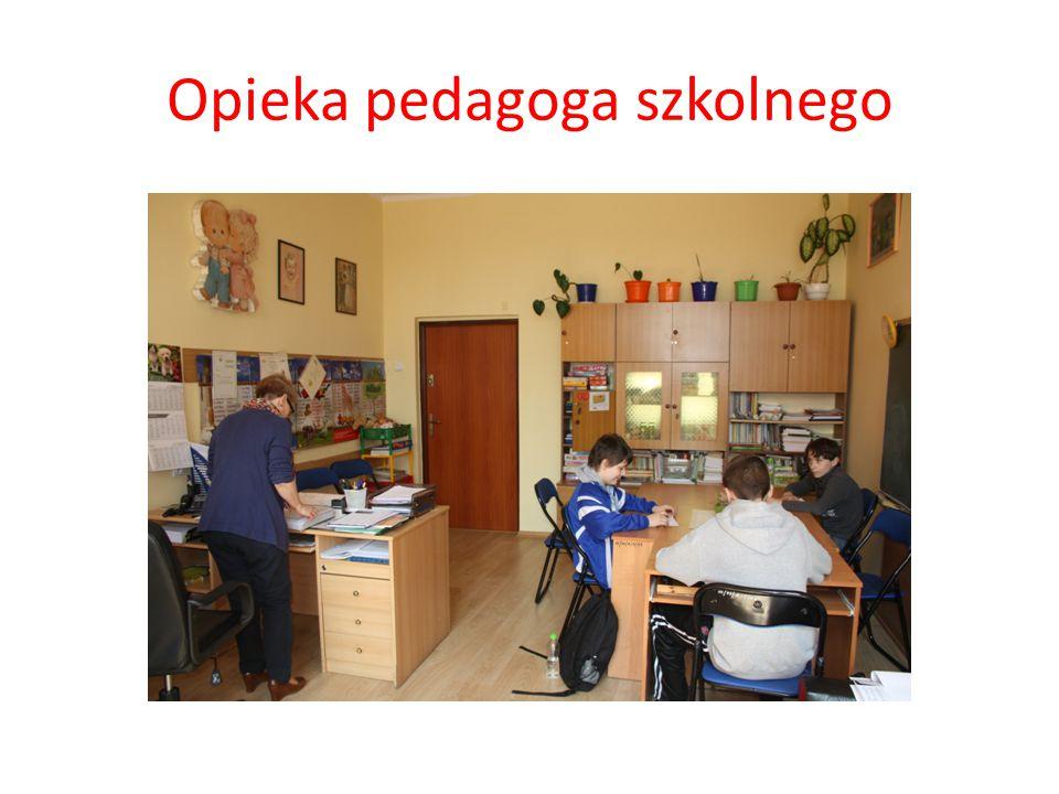 Opieka pedagoga szkolnego