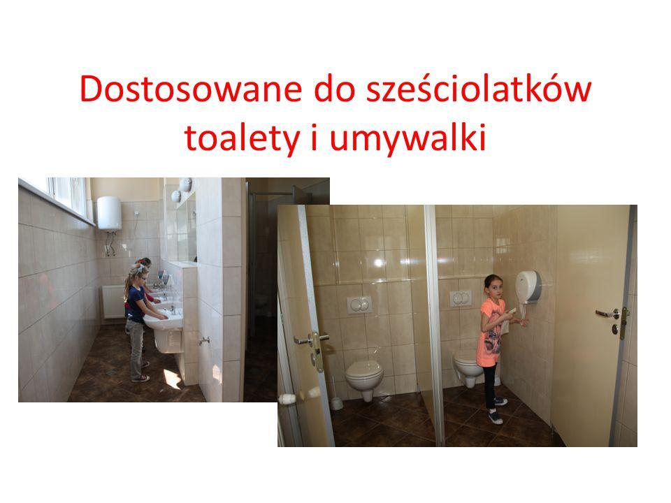 Dostosowane do sześciolatków toalety i umywalki