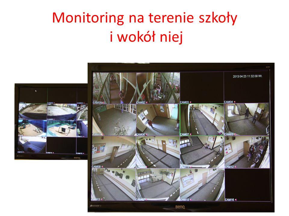 Monitoring na terenie szkoły i wokół niej