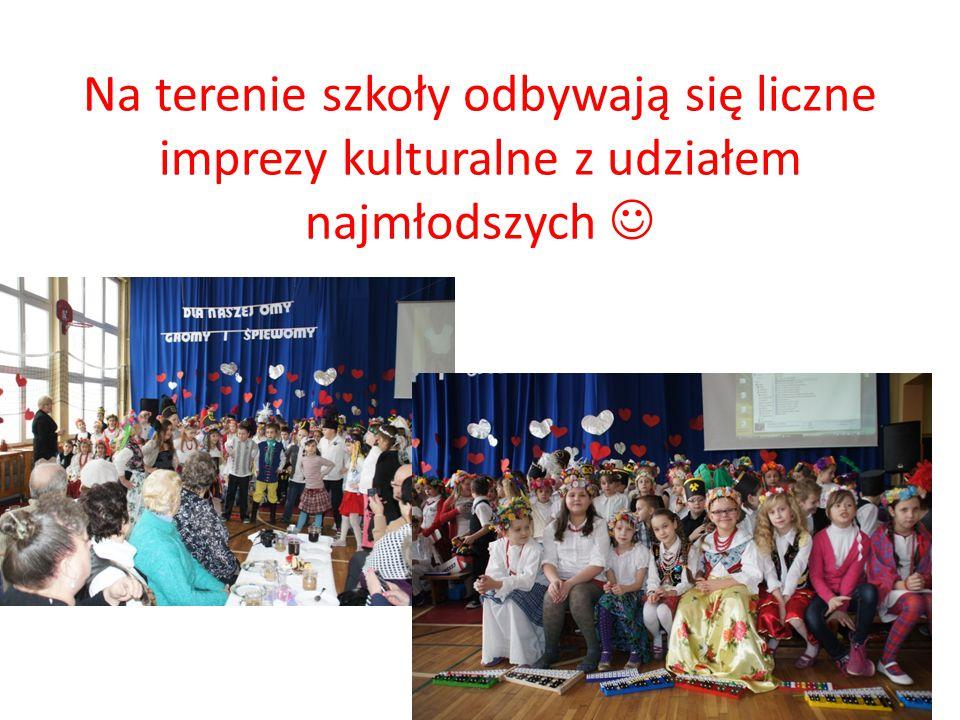 Na terenie szkoły odbywają się liczne imprezy kulturalne z udziałem najmłodszych