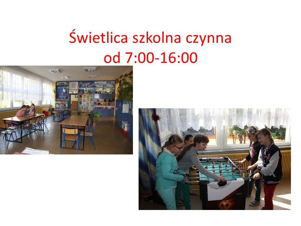 Świetlica szkolna czynna od 7:00-16:00