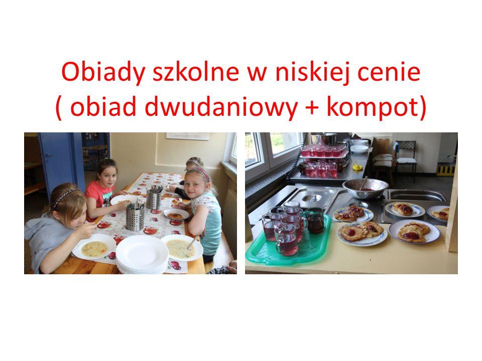 Obiady szkolne w niskiej cenie ( obiad dwudaniowy + kompot)