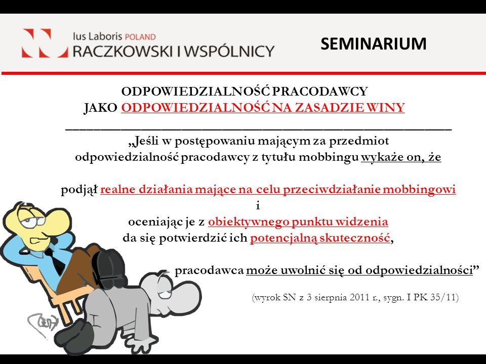 SEMINARIUM ODPOWIEDZIALNOŚĆ NA ZASADZIE RYZYKA.(art.