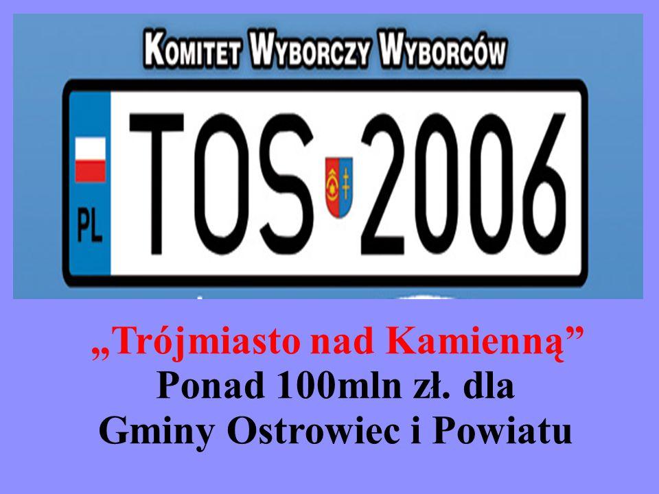 """""""Trójmiasto nad Kamienną Ponad 100mln zł. dla Gminy Ostrowiec i Powiatu"""