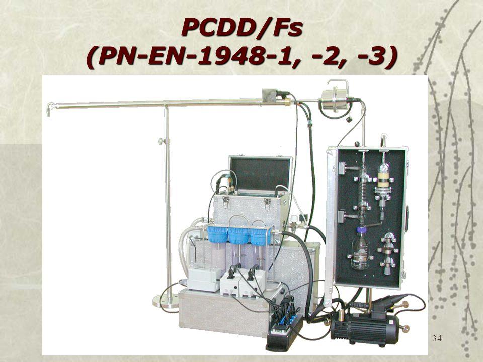 34 PCDD/Fs (PN-EN-1948-1, -2, -3)
