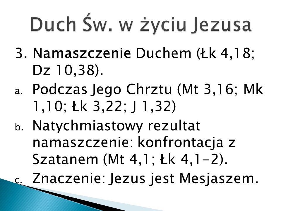 3.Namaszczenie Duchem (Łk 4,18; Dz 10,38). a.