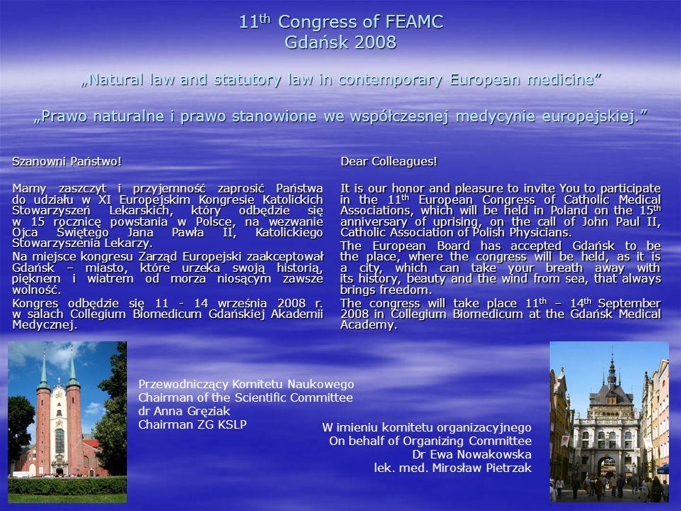 Tematy sesji kongresu/Scientific programme  1.