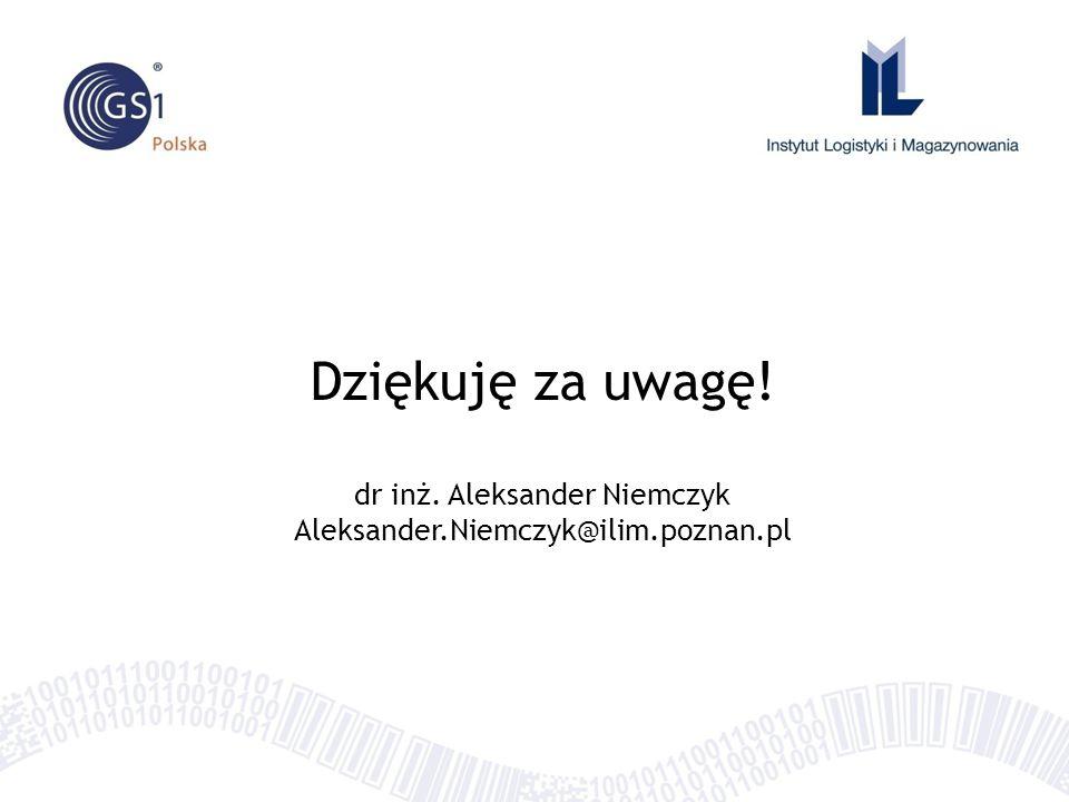 Dziękuję za uwagę! dr inż. Aleksander Niemczyk Aleksander.Niemczyk@ilim.poznan.pl