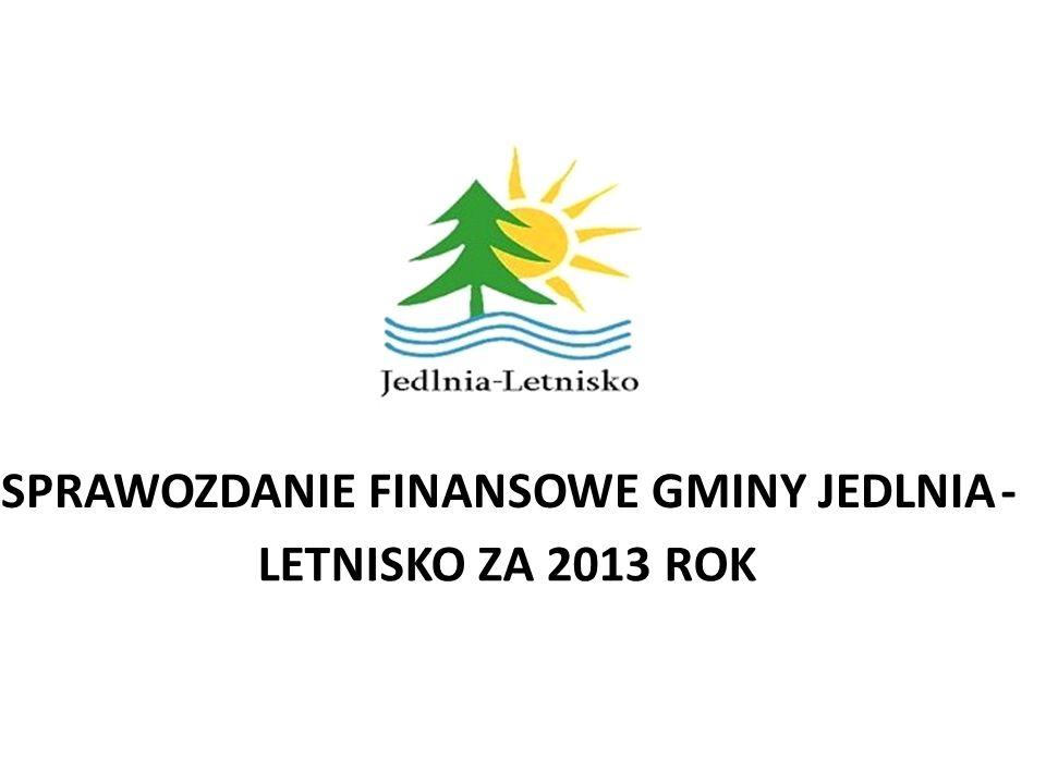 SPRAWOZDANIE FINANSOWE GMINY JEDLNIA- LETNISKO ZA 2013 ROK