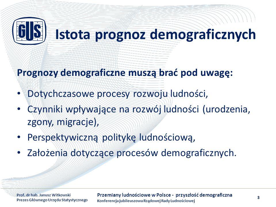 Wyniki prognozy Głębokie zmiany w strukturze ludności według wieku Postępujący proces starzenia się ludności Polski, Duży ubytek i starzenie się ludności w wieku produkcyjnym, Malejąca liczba dzieci i młodzieży, Ubytek kobiet w wieku prokreacyjnym.
