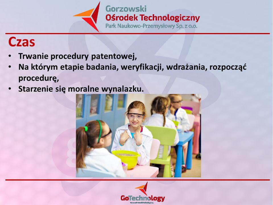 Czas Trwanie procedury patentowej, Na którym etapie badania, weryfikacji, wdrażania, rozpocząć procedurę, Starzenie się moralne wynalazku.