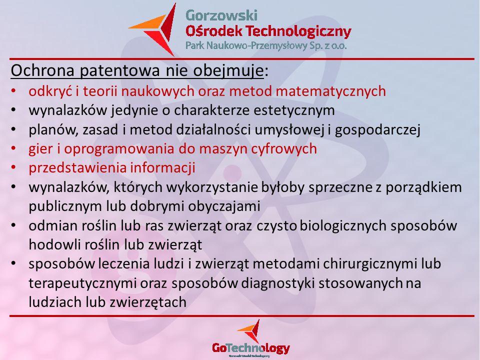 Ochrona patentowa nie obejmuje: odkryć i teorii naukowych oraz metod matematycznych wynalazków jedynie o charakterze estetycznym planów, zasad i metod