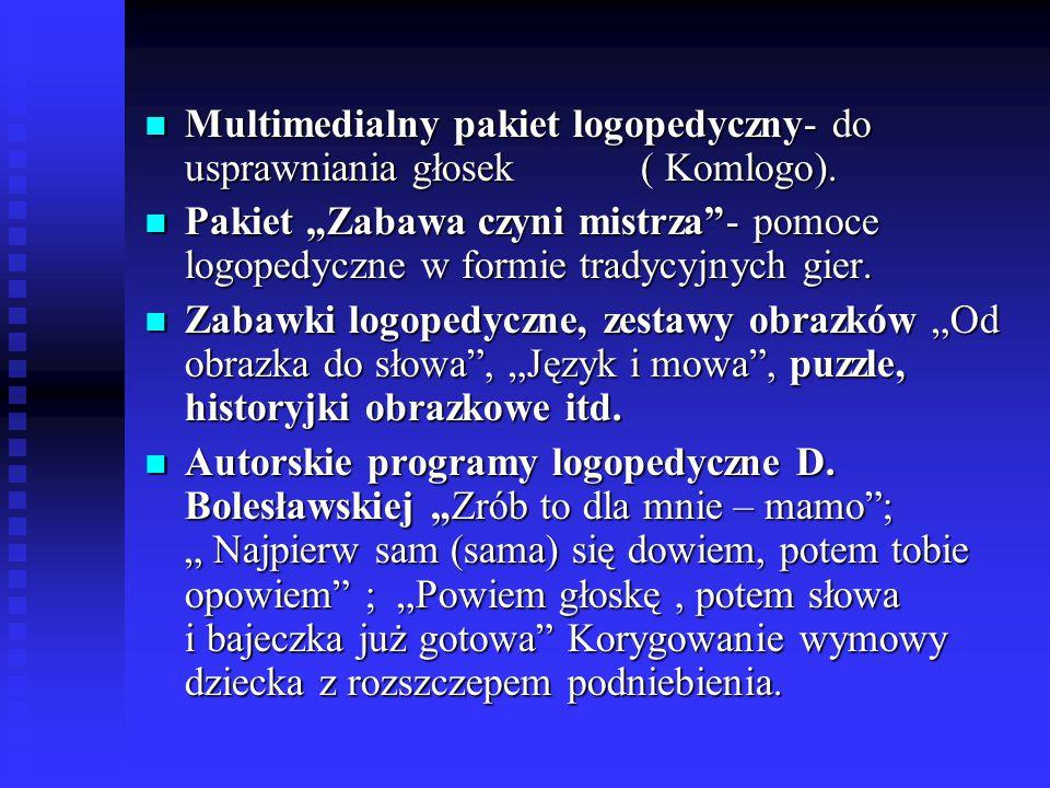 """Multimedialny pakiet logopedyczny- do usprawniania głosek ( Komlogo). Multimedialny pakiet logopedyczny- do usprawniania głosek ( Komlogo). Pakiet """"Za"""