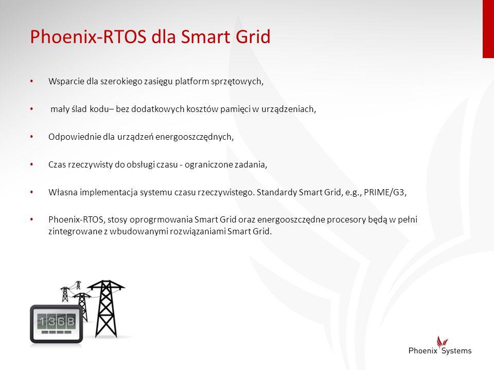 Phoenix-RTOS dla Smart Grid Wsparcie dla szerokiego zasięgu platform sprzętowych, mały ślad kodu– bez dodatkowych kosztów pamięci w urządzeniach, Odpo