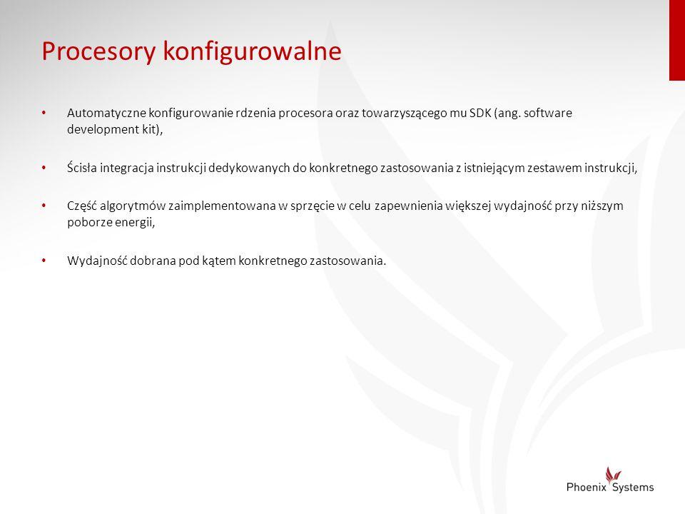 Procesory konfigurowalne Automatyczne konfigurowanie rdzenia procesora oraz towarzyszącego mu SDK (ang. software development kit), Ścisła integracja i