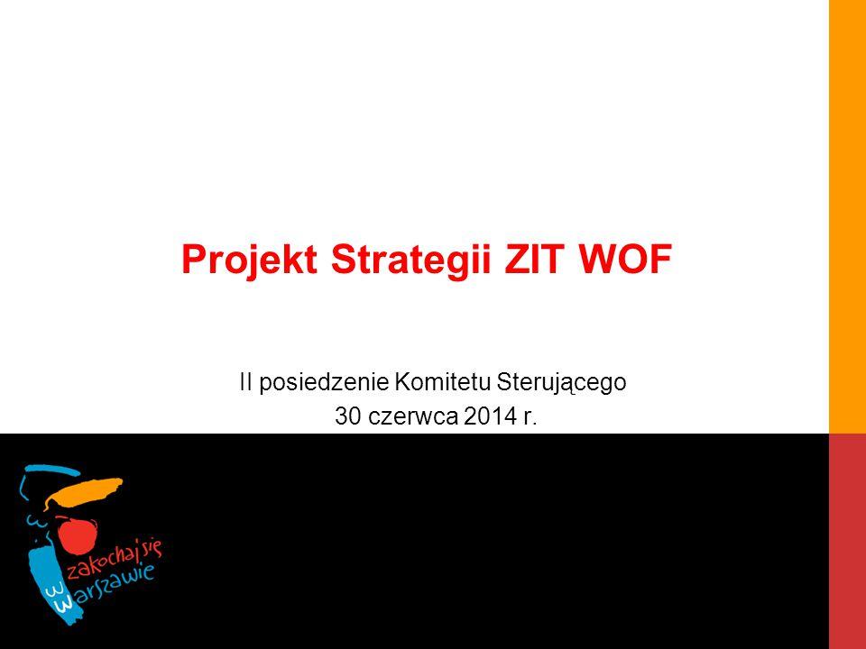 STRATEGIA ZIT WOF Etapy prac Delimitacja WOF ZITDiagnozaZałożenia strategii i projektów ZITProjekt Strategii ZIT WOF Konsultacje społeczne Ewaluacja ex ante