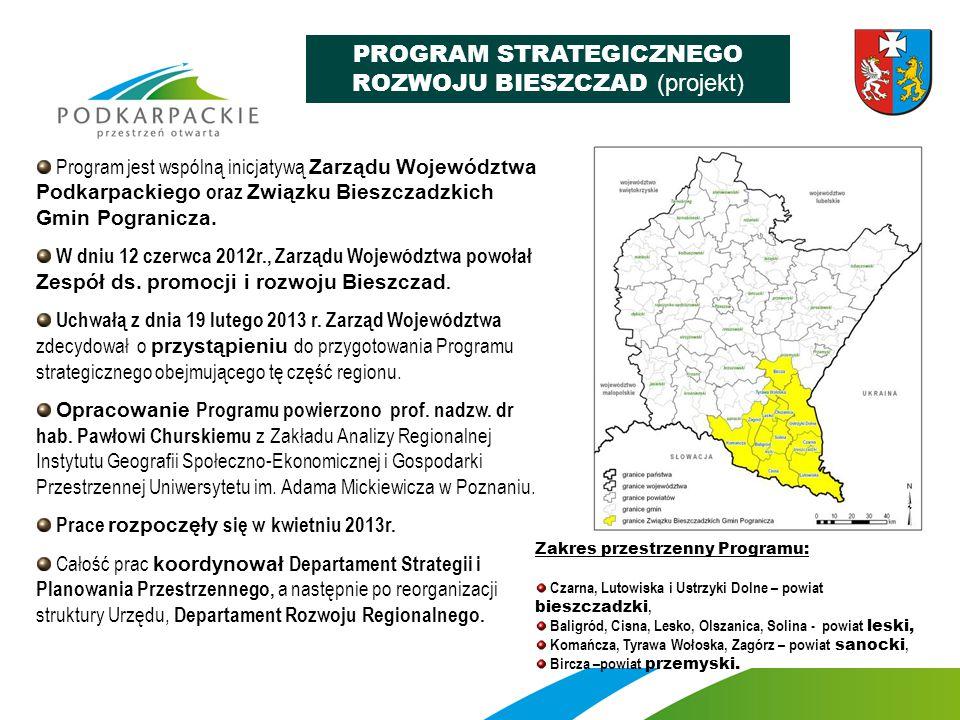 Program jest wspólną inicjatywą Zarządu Województwa Podkarpackiego oraz Związku Bieszczadzkich Gmin Pogranicza. W dniu 12 czerwca 2012r., Zarządu Woje