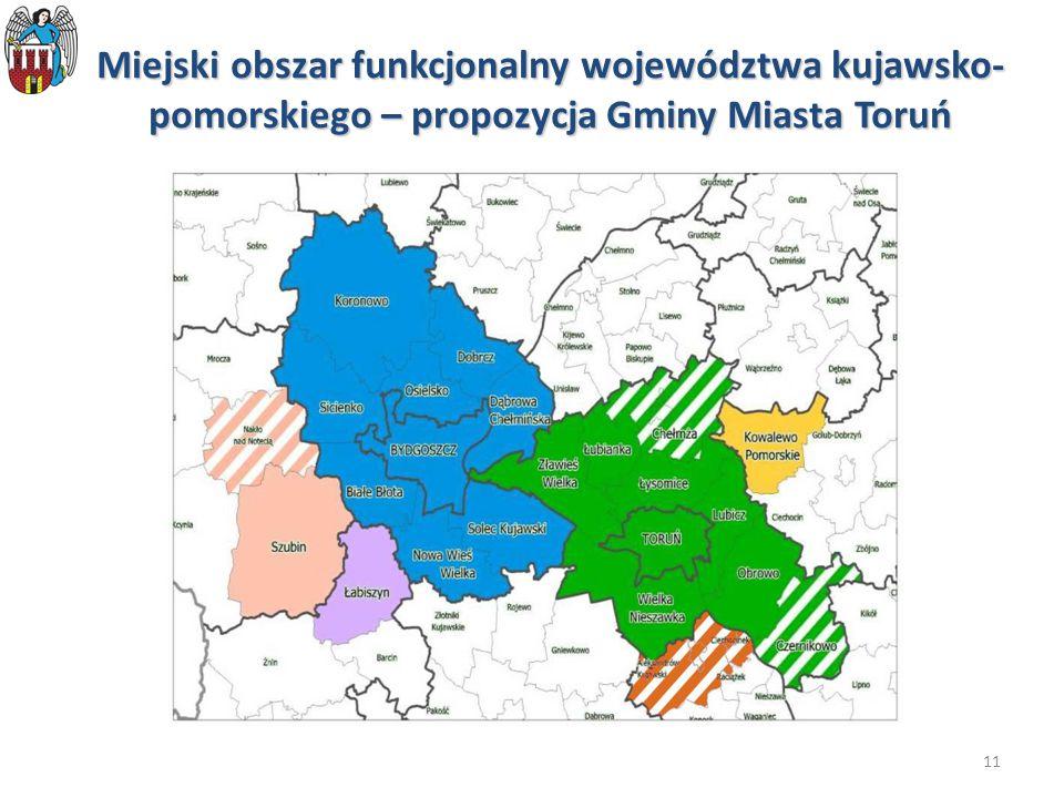 11 Miejski obszar funkcjonalny województwa kujawsko- pomorskiego – propozycja Gminy Miasta Toruń