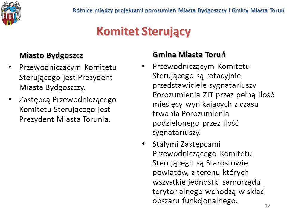 13 Komitet Sterujący Miasto Bydgoszcz Przewodniczącym Komitetu Sterującego jest Prezydent Miasta Bydgoszczy. Zastępcą Przewodniczącego Komitetu Steruj