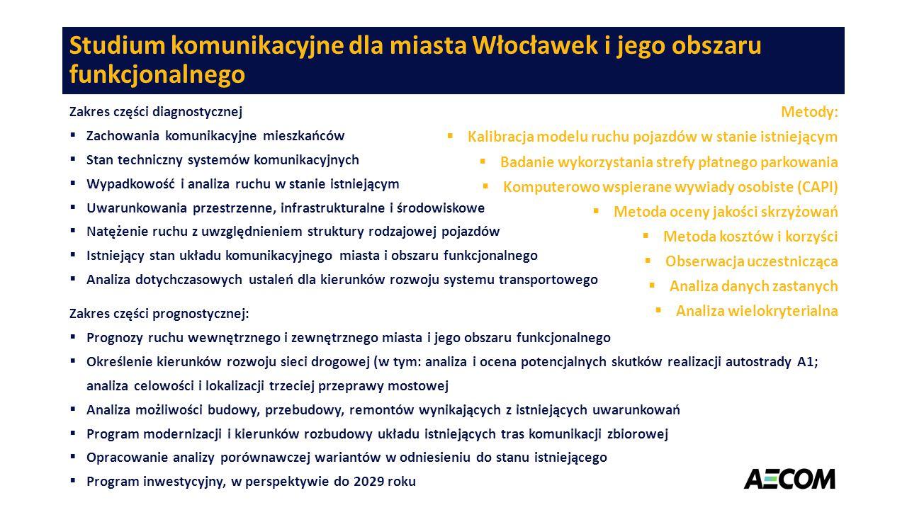 Studium komunikacyjne dla miasta Włocławek i jego obszaru funkcjonalnego Zakres części diagnostycznej  Zachowania komunikacyjne mieszkańców  Stan te