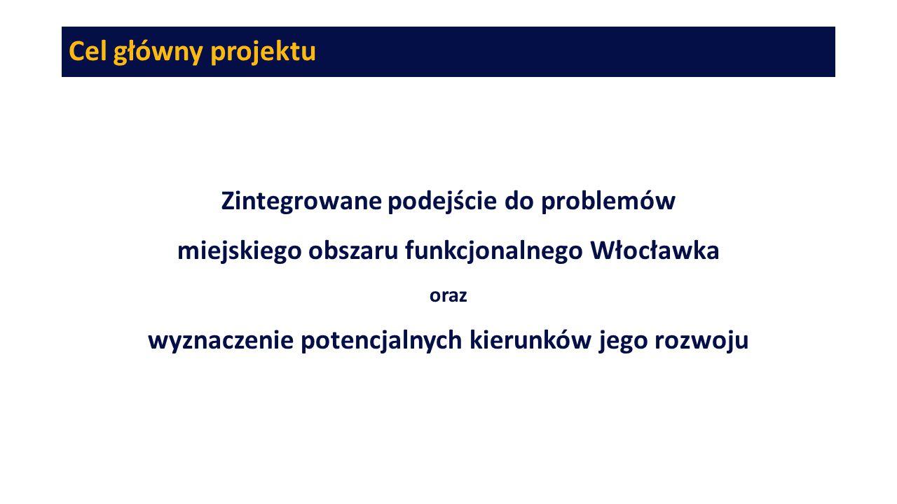 Cel główny projektu Zintegrowane podejście do problemów miejskiego obszaru funkcjonalnego Włocławka oraz wyznaczenie potencjalnych kierunków jego rozw