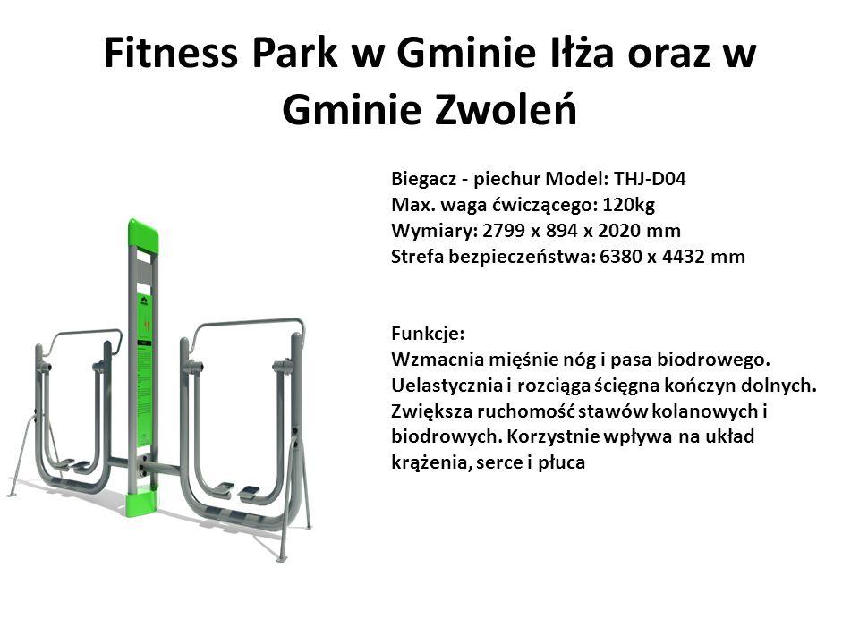 Fitness Park w Gminie Iłża oraz w Gminie Zwoleń Biegacz - piechur Model: THJ-D04 Max.