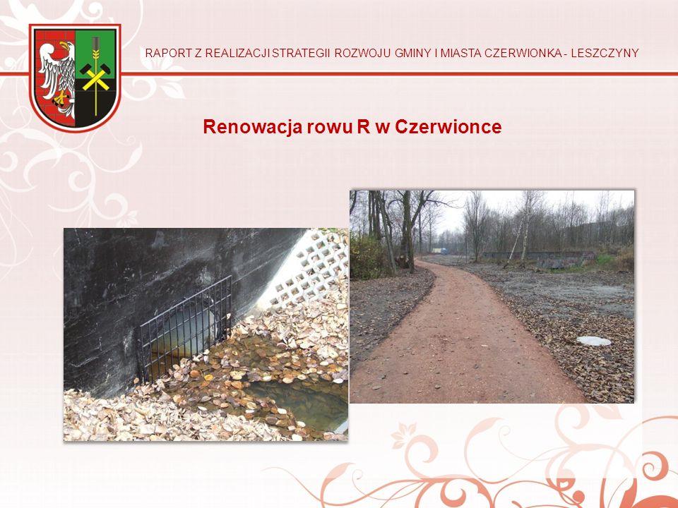 Renowacja rowu R w Czerwionce RAPORT Z REALIZACJI STRATEGII ROZWOJU GMINY I MIASTA CZERWIONKA - LESZCZYNY