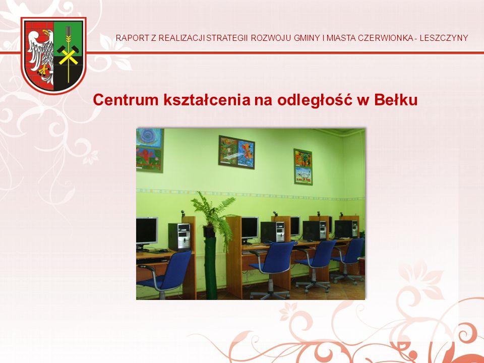 Centrum kształcenia na odległość w Bełku RAPORT Z REALIZACJI STRATEGII ROZWOJU GMINY I MIASTA CZERWIONKA - LESZCZYNY