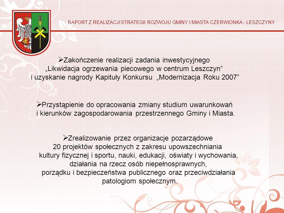 """ Zakończenie realizacji zadania inwestycyjnego """"Likwidacja ogrzewania piecowego w centrum Leszczyn"""" i uzyskanie nagrody Kapituły Konkursu """"Modernizac"""