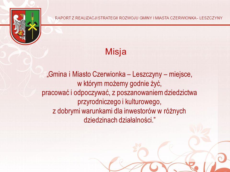 """""""Gmina i Miasto Czerwionka – Leszczyny – miejsce, w którym możemy godnie żyć, pracować i odpoczywać, z poszanowaniem dziedzictwa przyrodniczego i kult"""