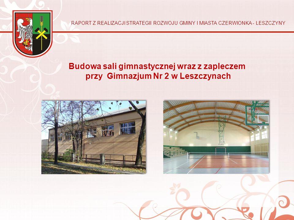 Budowa sali gimnastycznej wraz z zapleczem przy Gimnazjum Nr 2 w Leszczynach RAPORT Z REALIZACJI STRATEGII ROZWOJU GMINY I MIASTA CZERWIONKA - LESZCZY