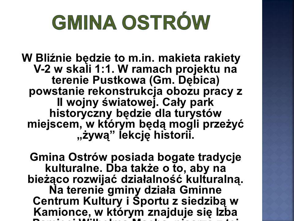 W Bliźnie będzie to m.in. makieta rakiety V-2 w skali 1:1. W ramach projektu na terenie Pustkowa (Gm. Dębica) powstanie rekonstrukcja obozu pracy z II