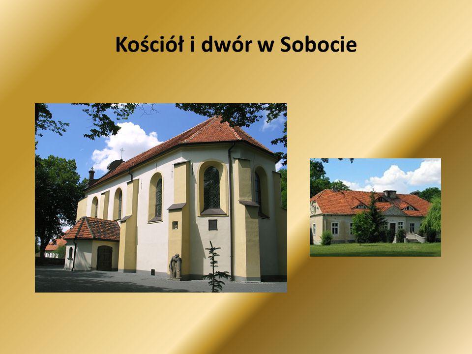 Kościół i dwór w Sobocie