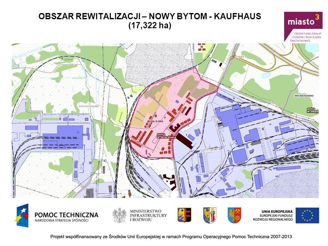 OBSZAR REWITALIZACJI – NOWY BYTOM - KAUFHAUS (17,322 ha)