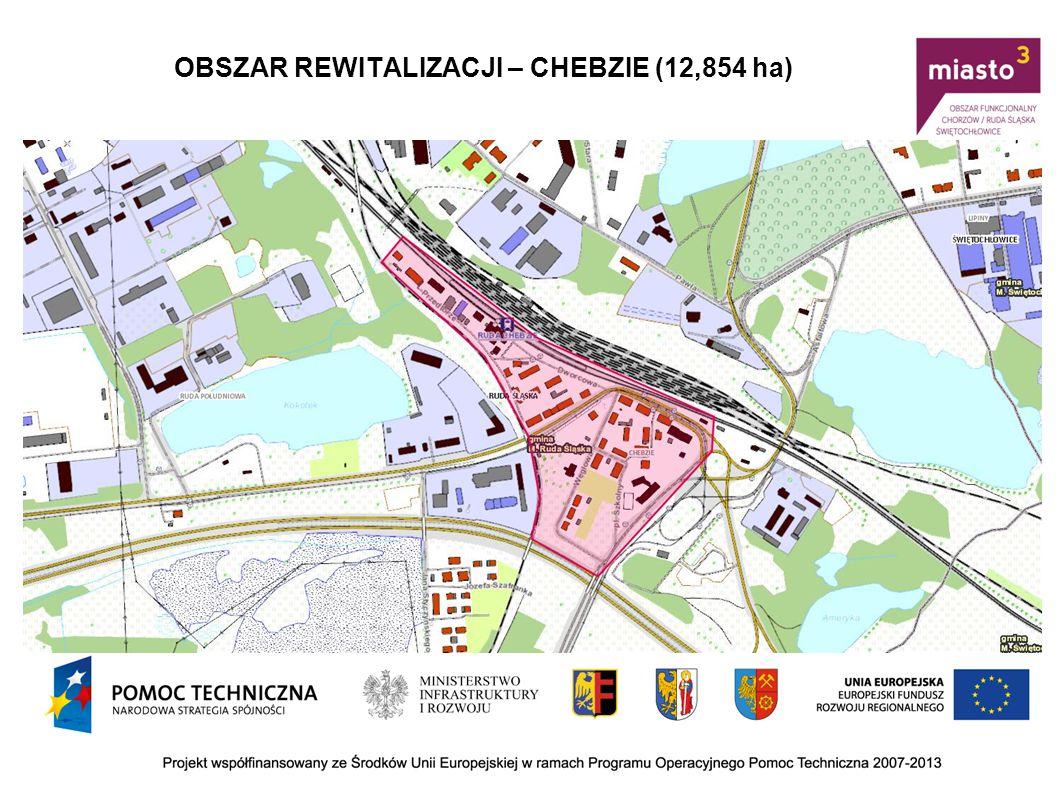 OBSZAR REWITALIZACJI – CHEBZIE (12,854 ha)