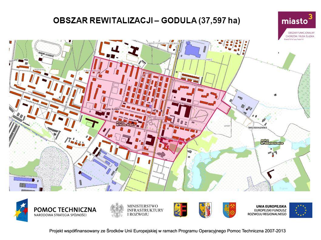 OBSZAR REWITALIZACJI – WIREK/NOWY BYTOM (49,153 ha)