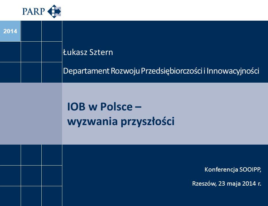 2014 IOB w Polsce – wyzwania przyszłości Łukasz Sztern Departament Rozwoju Przedsiębiorczości i Innowacyjności Konferencja SOOIPP, Rzeszów, 23 maja 20