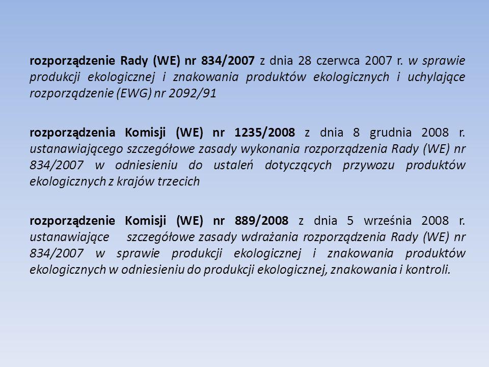 rozporządzenie Rady (WE) nr 834/2007 z dnia 28 czerwca 2007 r.