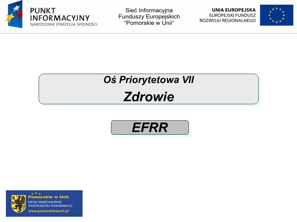 Oś Priorytetowa VII Zdrowie Oś Priorytetowa VII Zdrowie EFRR