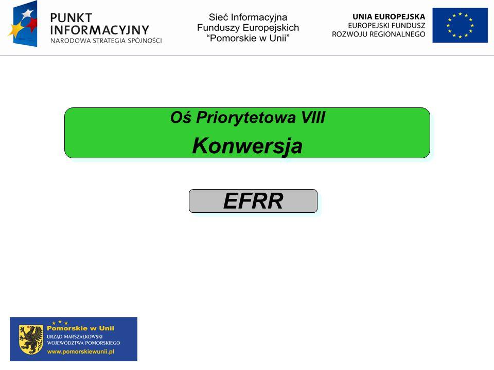 Oś Priorytetowa VIII Konwersja Oś Priorytetowa VIII Konwersja EFRR