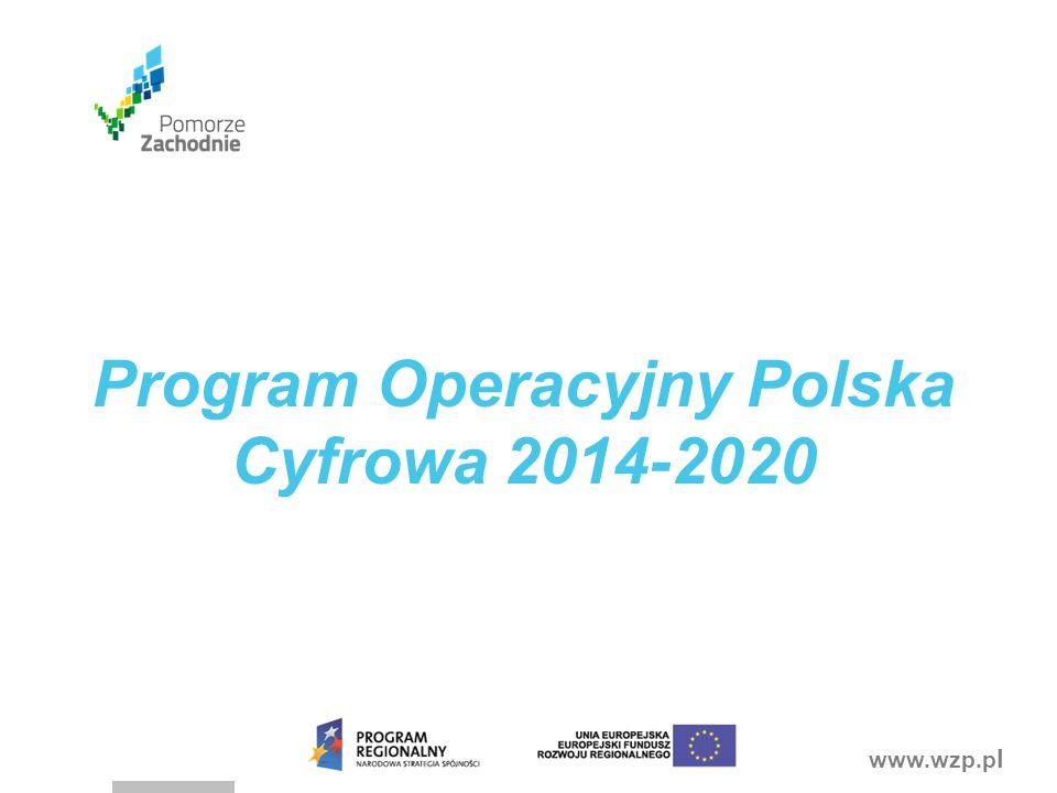 www.wzp.p l Program Operacyjny Polska Cyfrowa 2014-2020