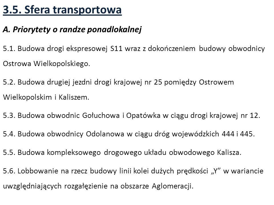 3.5.Sfera transportowa A. Priorytety o randze ponadlokalnej 5.1.