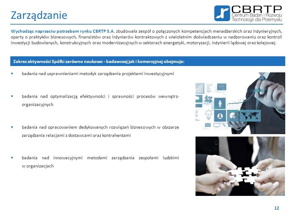 Zarządzanie  badania nad usprawnieniami metodyk zarządzania projektami inwestycyjnymi  badania nad optymalizacją efektywności i sprawności procesów