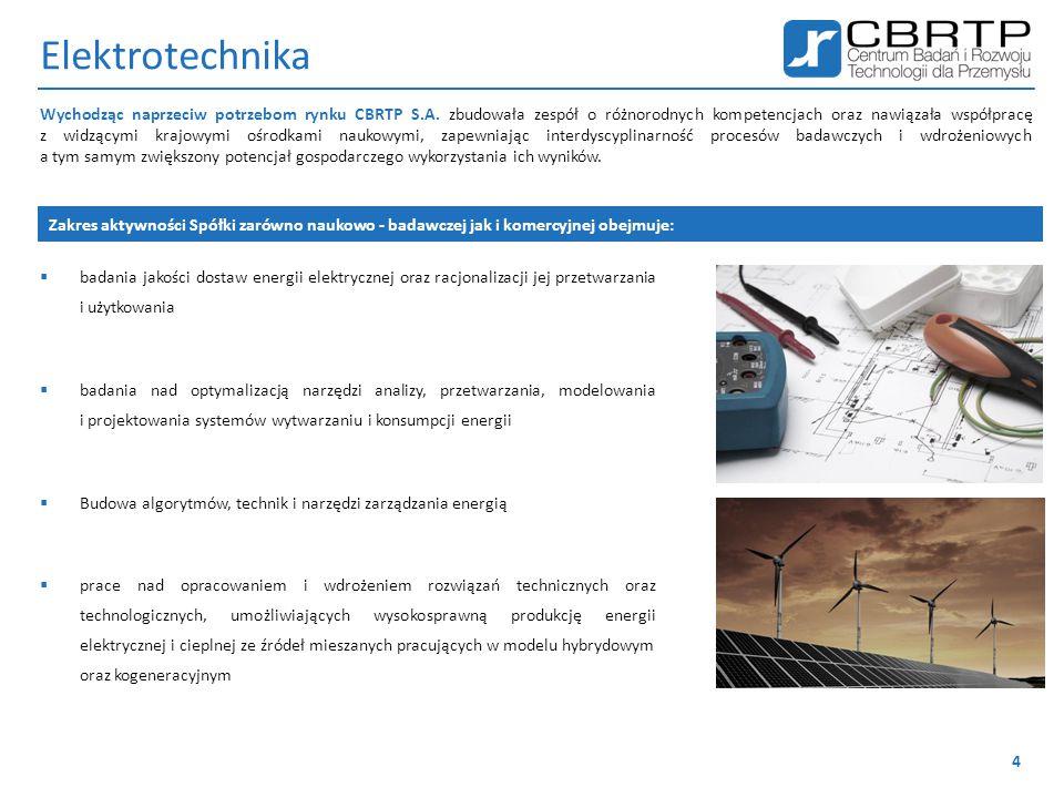Elektrotechnika  badania jakości dostaw energii elektrycznej oraz racjonalizacji jej przetwarzania i użytkowania  badania nad optymalizacją narzędzi