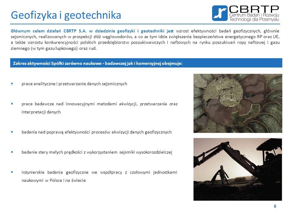 Geofizyka i geotechnika  prace analityczne i przetwarzanie danych sejsmicznych  prace badawcze nad innowacyjnymi metodami akwizycji, przetwarzania o