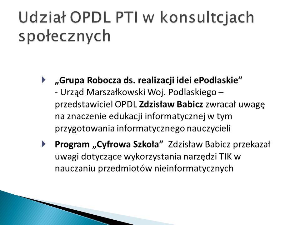 """ """"Grupa Robocza ds.realizacji idei ePodlaskie - Urząd Marszałkowski Woj."""
